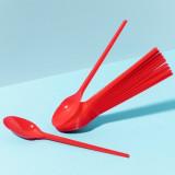 Cucchiai In Plastica Monouso 20Pz - Celeste