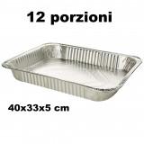 Ottimo Vaschetta Alluminio Senza Coperchio - 12 Porzioni 40X33X5Cm - 1 Pz