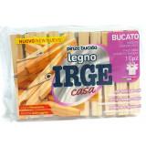 Irge Casa Pinze Stendi Bucato In Legno - 10 Pezzi - Resistente Antiruggine