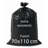 Sacco Rifiuti Misura Condominiale 70X110Cm 800G - 9Pz - Nero Extraresistente