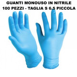 Skinblu Guanti Monouso In Nitrile - 100 Pezzi - Taglia S 6.5 Piccola