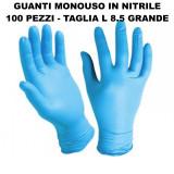 Skinblu Guanti Monouso In Nitrile - 100 Pezzi - Taglia L 8.5 Grande