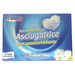 L'unico Fogli Per Asciugatrice - 20 Pezzi - Con Ammorbidente - Profumati