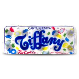 Tiffany Carta Igienica 10 Rotoli - Micro Goffrata - Due Veli - 420 Grammi