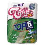 Tiffany Plus Carta Igienica 3 Veli - 6 Rotoli Maxi - Trapuntata E Decorata