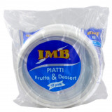 Imb Piatti Monouso In Plastica Formato Dessert 50Pz Bianchi