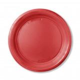 Imb Piatti Monouso In Plastica Formato Dessert - 50 Pezzi - Rosso