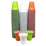 Bicchieri Monouso In Plastica - 80Cc - 50 Pezzi - Colori Assortiti