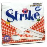 Strike Tovaglioli Di Carta Doppiovelo - 33X33Cm - 50 Pezzi - Bianchi
