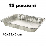 Vaschetta Alluminio Senza Coperchio - 12 Porzioni 40X33X5Cm - 1 Pezzo