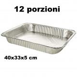 Kito Vaschetta Alluminio Senza Coperchio - 12 Porzioni 40X33X5Cm - 1 Pz