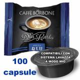 Borbone Don Carlo Caffe' Miscela Blu 100 Capsule - Compatibili A Modo Mio