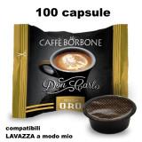 Borbone Don Carlo Caffe' 100 Capsule Compatibili A Modo Mio - Miscela Oro
