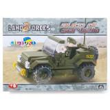 Costruzioni Tipo Lego - Land2 Forces Auto Servizio - 121 Pezzi - 6 Anni+