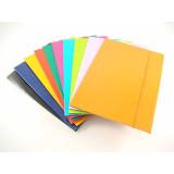 Cartellina Portadocumenti In Cartoncino Con Elastico - Vari Colori