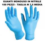 Gloves Guanti Monouso In Nitrile - 100 Pezzi - Taglia M 7.5 Media