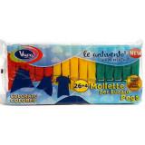 Vapa Pinze Da Bucato In Plastica - 30 Pezzi - Colori Assortiti