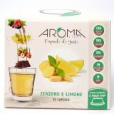 Aroma Light 30 Capsule Di Gusto - Limone E Zenzero - Compatibili A Modo Mio