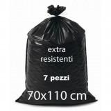 Sacco Rifiuti Misura Condominiale 70X110Cm 350G Nero - 7Pz - Extraresistente