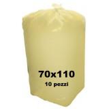 The Best Sacco Rifiuti Misura Condominiale 70X110Cm - 10 Pezzi - Giallo