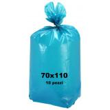 The Best Sacco Rifiuti Misura Condominiale 70X110Cm - 10 Pezzi - Azzurro