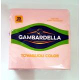 Gambardella Tovaglioli Doppio Velo 33X33Cm 25 Pezzi - Rosa