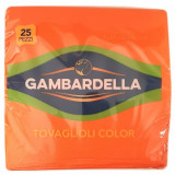 Gambardella Tovaglioli Doppio Velo 33X33Cm 25 Pezzi - Arancio