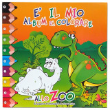 Album Da Colorare - 28X28Cm - Maxi - 24 Pagine - Allo Zoo - Assortiti