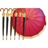 Ombrello Automatico Con Fascia Colorata - Art.2416 - Diametro 110Cm