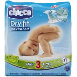 Chicco Pannolini Dry Fit Advance - Taglia 3 Midi 4-9Kg - 21 Pezzi