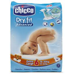 Chicco Pannolini Dry Fit Advance - Taglia 6 Extra Large 16-30Kg - 14 Pezzi
