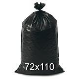 Sacco Rifiuti Misura Condominiale 72X110Cm 350G - 10Pz - Nero - Antigoccia