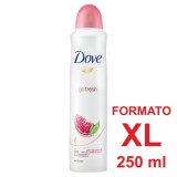 Dove Deodorante Spray Formato Xl 250Ml - 48H No Alcool - Go Fresh Melograno