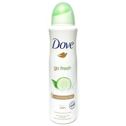 Dove Deodorante Spray 150Ml - 48H No Alcool - Go Fresh - Cetriolo E Te Verde