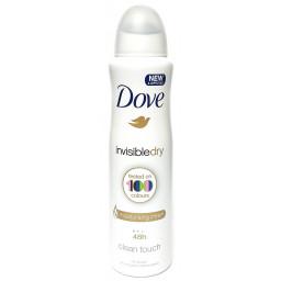 Dove Deodorante Spray 150Ml - 48H No Alcool - Invisible Dry - Clean Touch